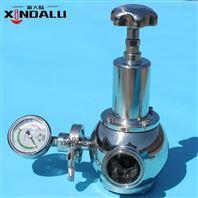 新大陆不锈钢卫生级蒸汽快装减压阀带压力表