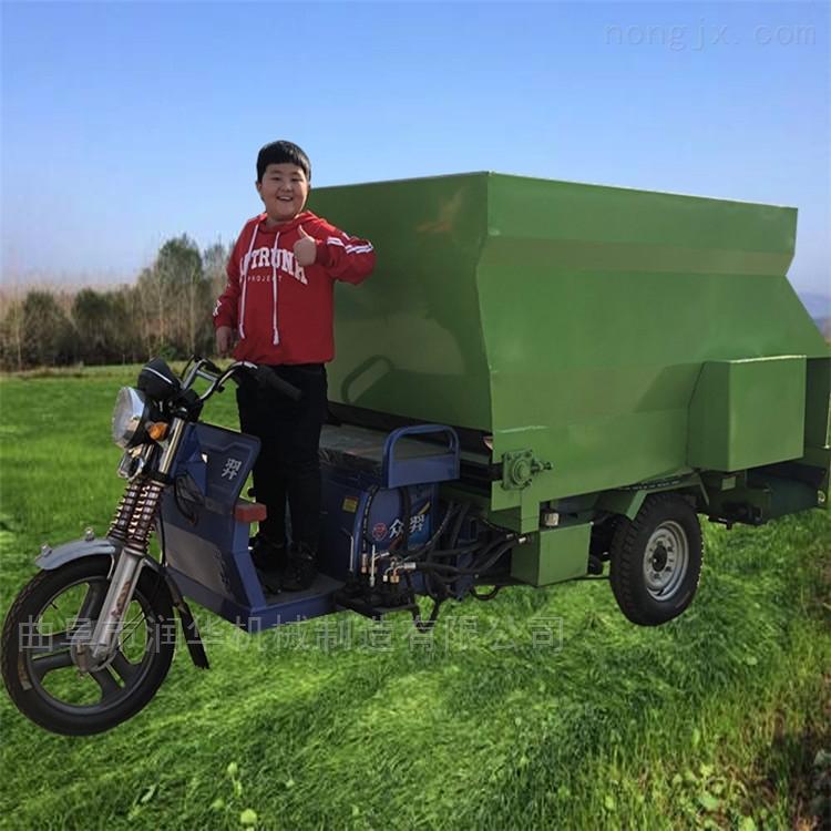 塔城肉牛饲养电动撒料车 5立方双侧投料车