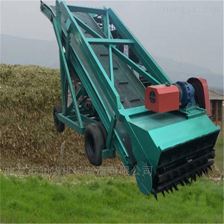 养牛牧场窖池青贮取草机 饲料储备池挖草机