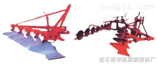 机引铧式犁、合墒器