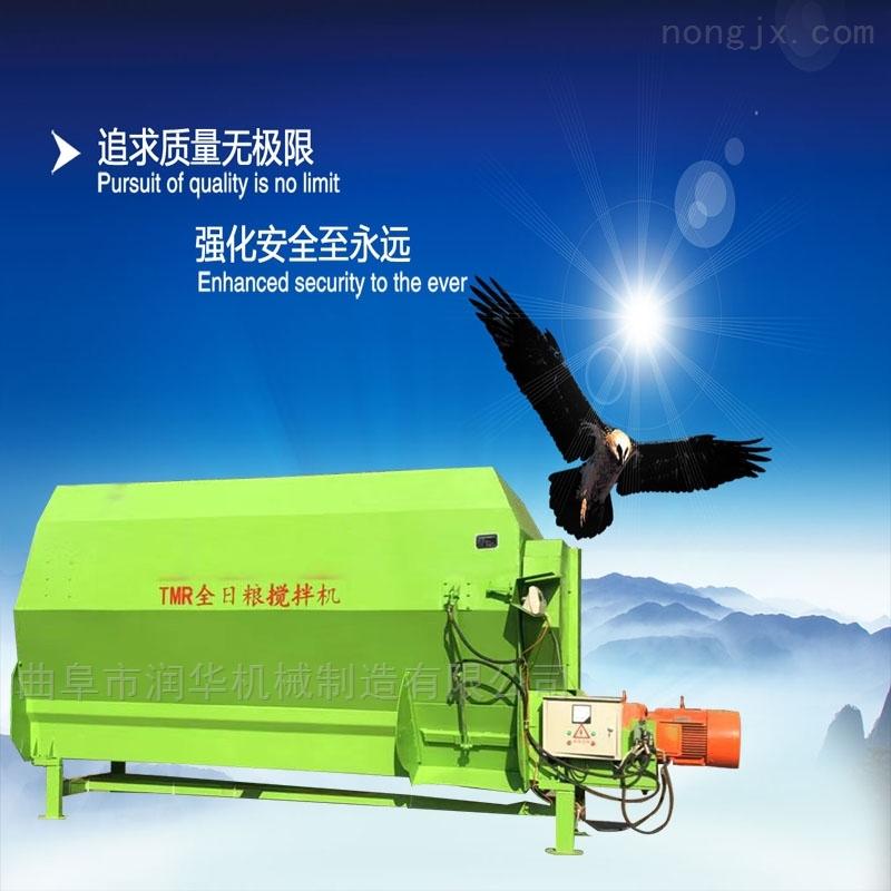 牧草秸秆粉碎搅拌机 轴传动TMR全日粮混合机