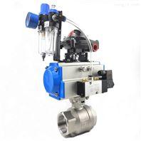 气动两片式内螺纹球阀Q611F-16P卫生级球阀