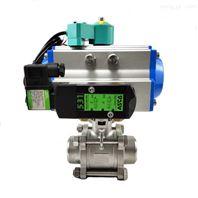 气动三片式焊接球阀Q661F-16P卫生级球阀