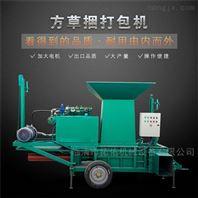 棉籽壳液压青草麦秆打包机 蒜皮饲料压块机