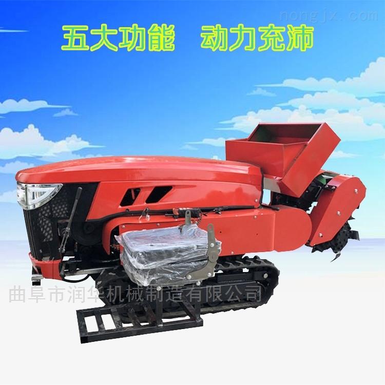 温室大棚开沟施肥机 自走式柴油开沟机