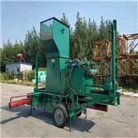 自动输送稻草打捆包膜机